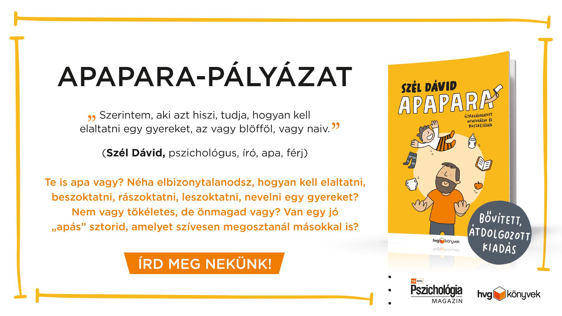 Apapara-pályázat - a HVG Könyvek és a HVG Extra Pszichológia magazin szervezésében